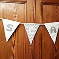 Banderole de fanions - trousseau de bébé oscar