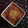 Crumble chèvre-tomates-chorizo
