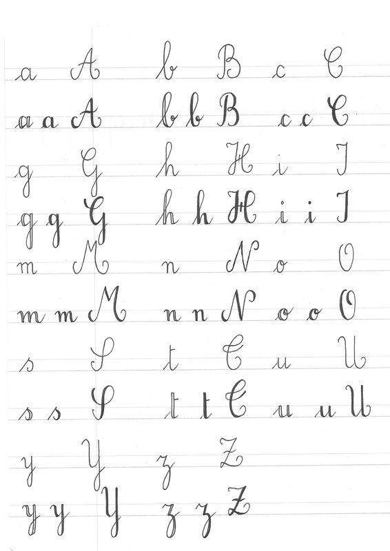 Lettering a
