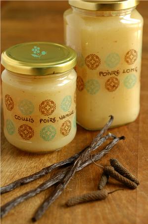 Coulis poire, vanille & poivre long_1