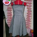 Robe Pin Up vichy T38/40