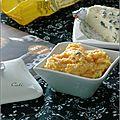 Purée de maïs aux carottes & au bleu