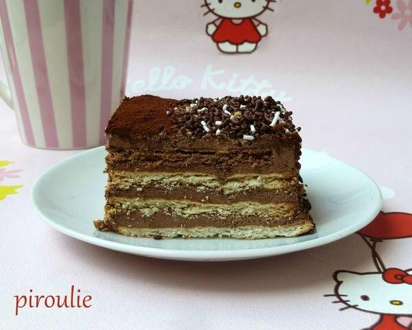 Gateau Aux Petits Beurre Au Chocolat Et Au Cafe Patisseries Et