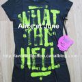 T-shirt exclusif Abbey Dawn WTH-signé par Avril Lavigne
