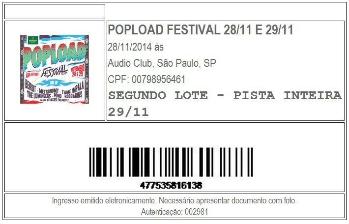 2014 11 Popload Festival Audio Club SP Billet