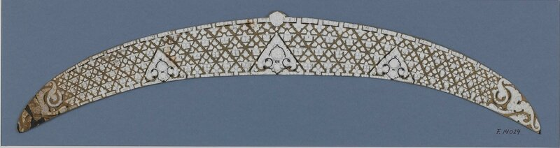 C-0288 Cartier - Study for an important Art Deco tiara, Modern Style