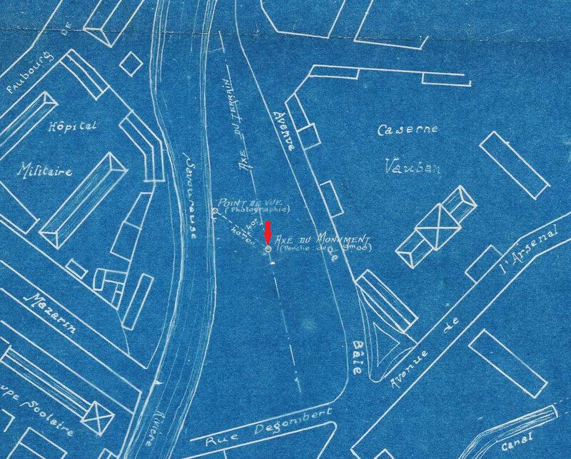 1924 Plan implantation monument R