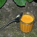 Soupe crue de patate douce au lait de coco