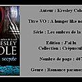 Chronique : kresley cole - [les ombres de la nuit] - t1 - morsure secrète