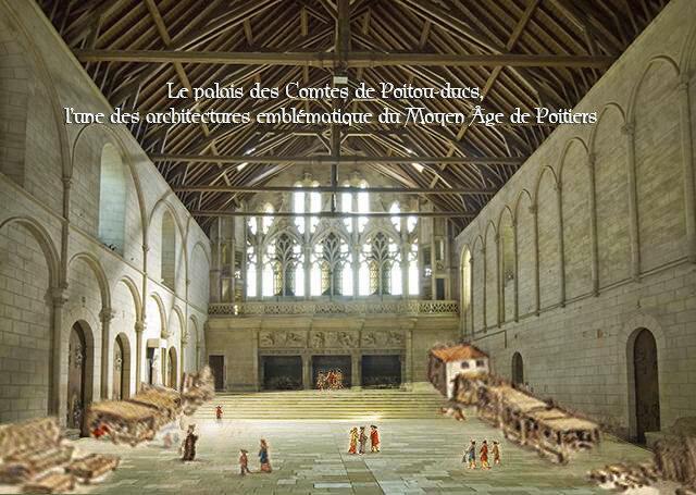 Le palais des Comtes de Poitou-ducs, l'une des architectures emblématique du Moyen Âge de Poitiers