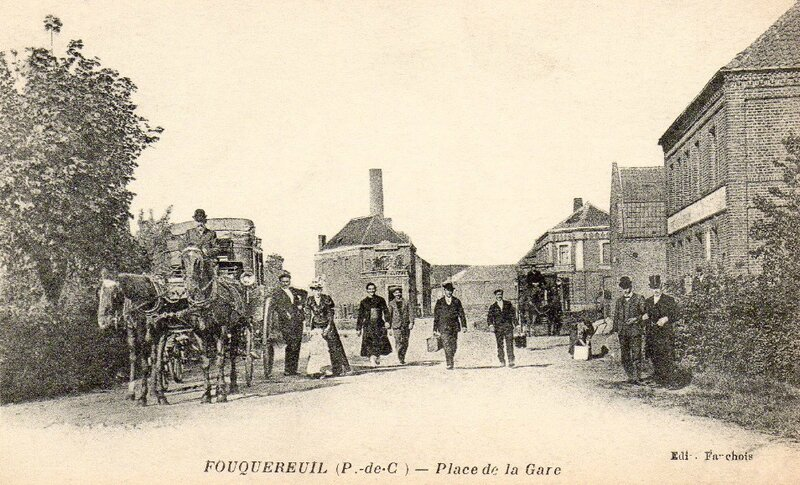 Fouquereuil (Pas-de-Calais) place de la Gare