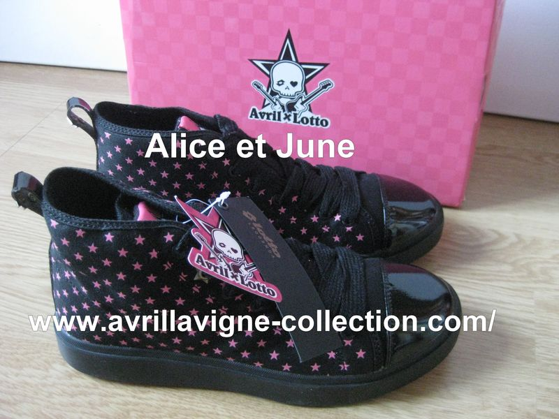 AvrilxLotto product - Chaussures noires et roses