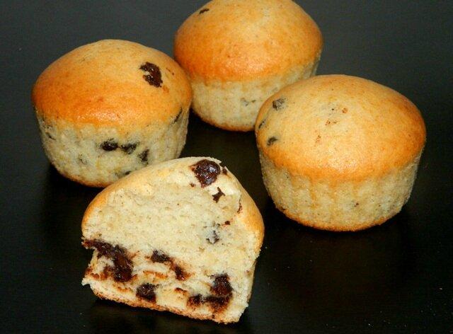 Muffins après cuisson