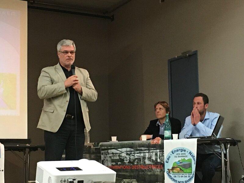 barrage Sélune STP Isigny le Buat réunion publique avril 2016 société Valorem Jean-Yves Grandidier