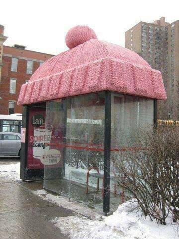 bonnet arrêt de bus