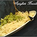 Spaghetti brocolis