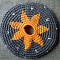 Frisbee fleur orange #ffo000125