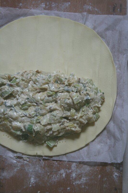 Chausson aux poireaux-roquefort 1