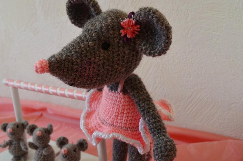 souris ballerine, crochet, amigurumi, laine (11)
