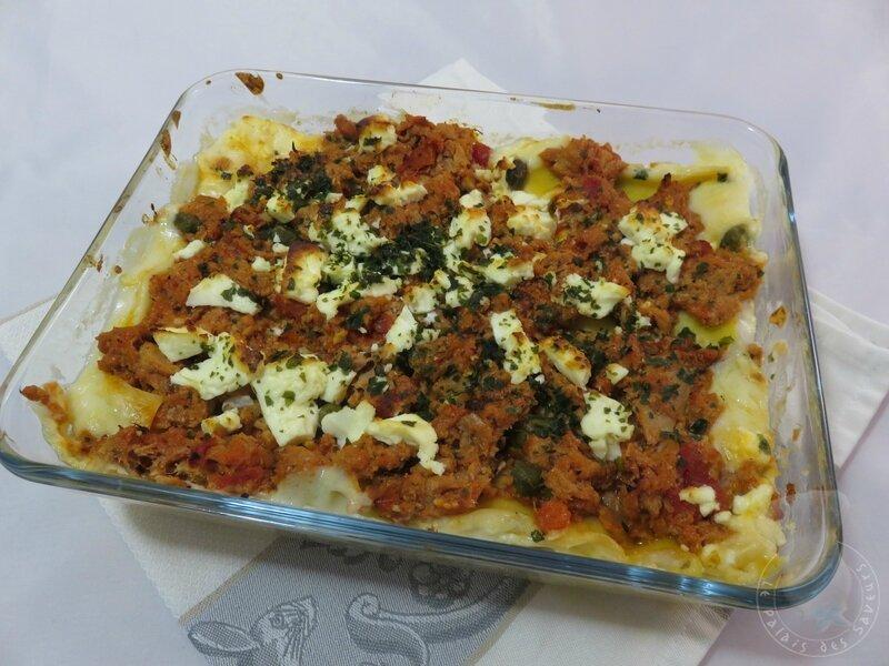 Lasagnes thon féta