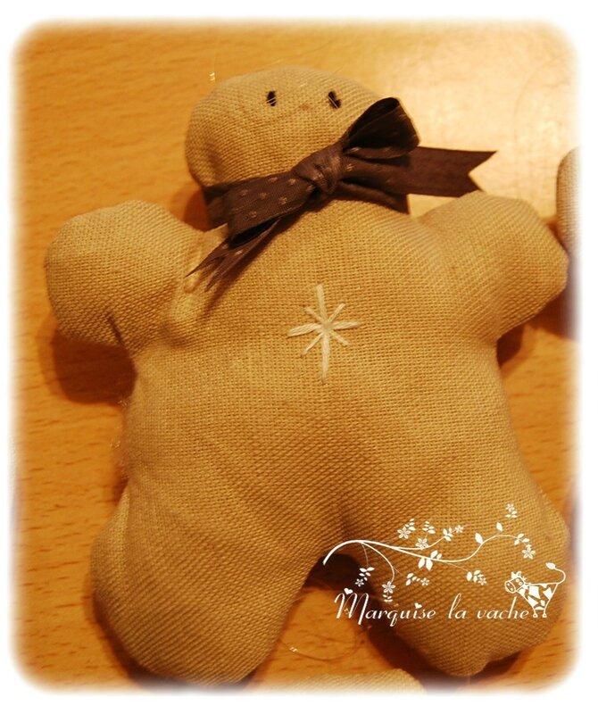 bonhomme pain d'épice suspension de Noël (8)