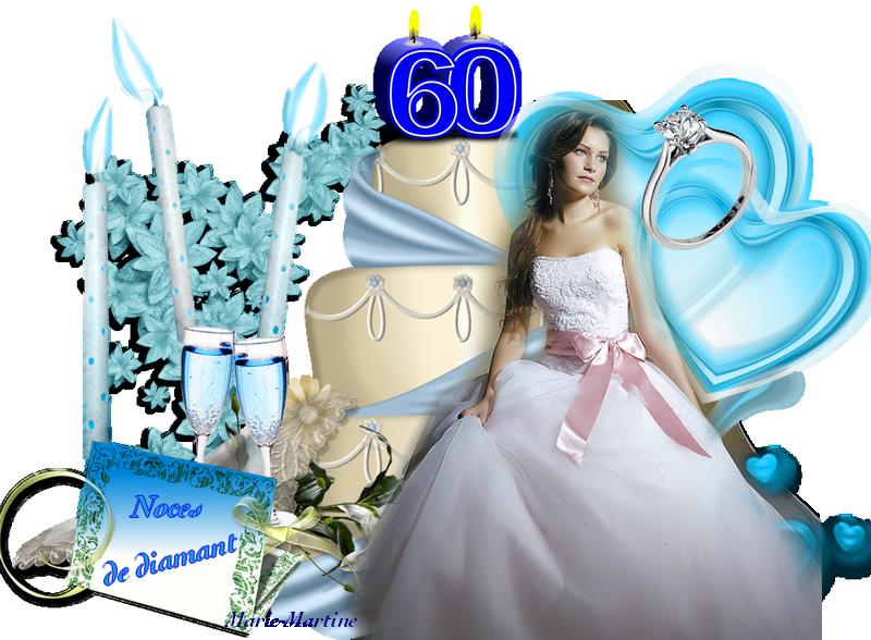 mariée noces diamant