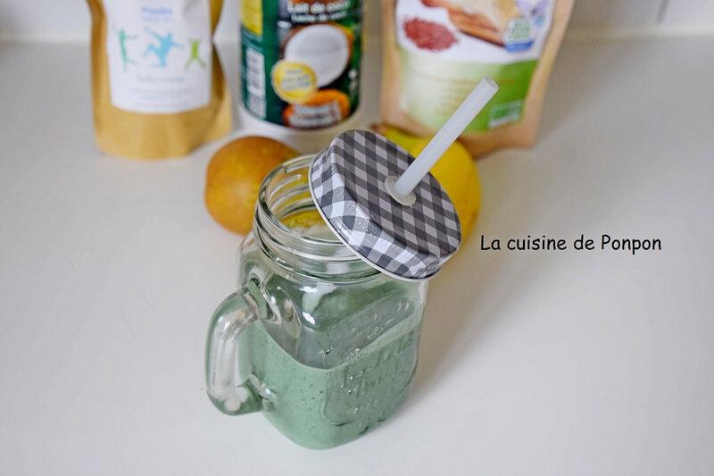 smoothie poire banane coco et spiruline (7)