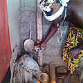 Ceremonie au temple du medium marabout maitre amegandji