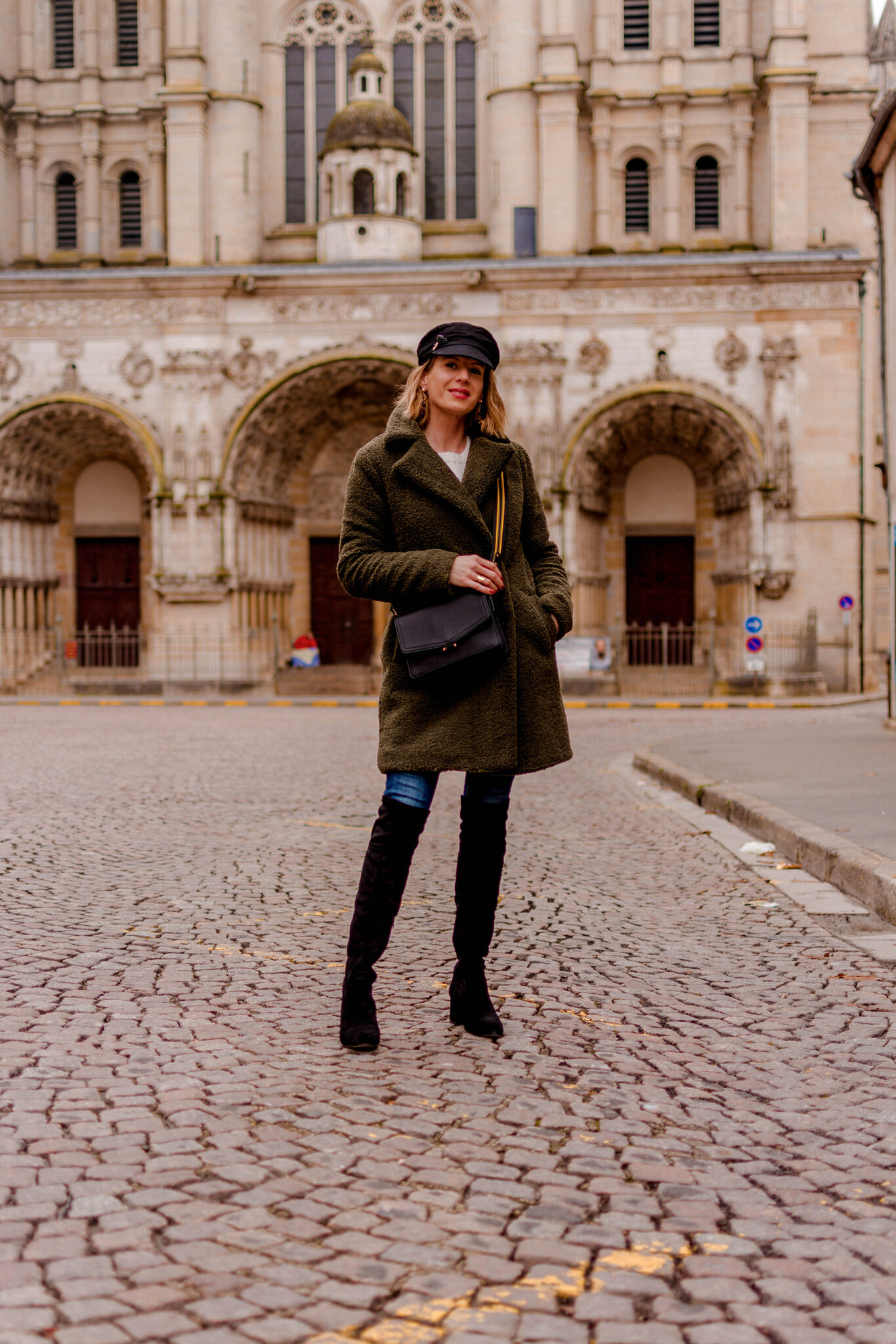 Look look look # Cuissardes, maille douce et manteau teddy