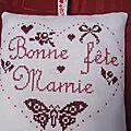 Coussinet Bonne fête Mamie