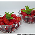 Salade de fraises au vin rouge
