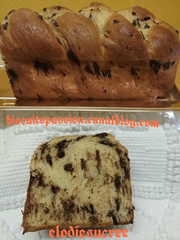 COTON aux pépites de chocolat ( BRIOCHE ) 058