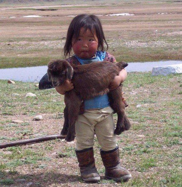 So cute with my baby goat