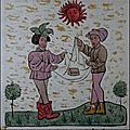 [offrande au soleil][deux pecheurs] iconographie