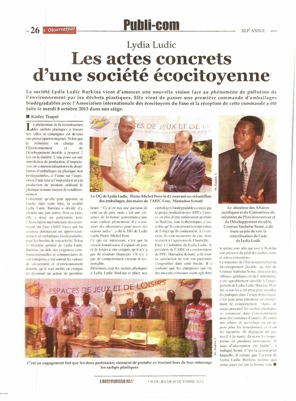 2013-10- Lydia Ludic Burkina emballages biodégradables 3
