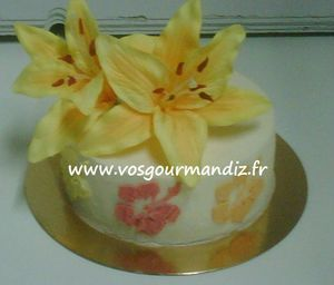 Gâteau Fleurs de Lys Vos Gourmandiz