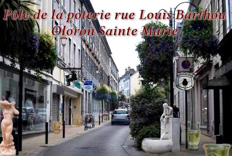 Rue Louis Barthou Oloron poteries2