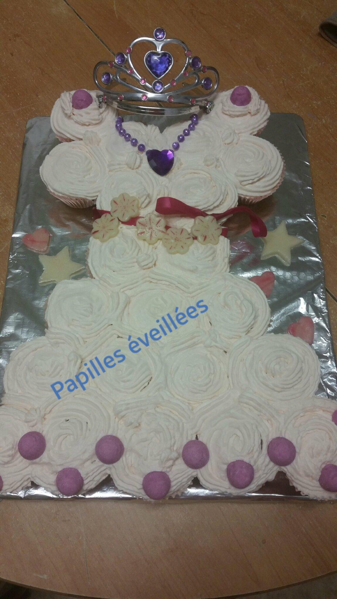 Robe princesse cupcakes