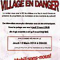 Bombon, village en danger; un collectif s'est formé