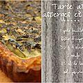 Tarte ou quiche aux asperges et olives