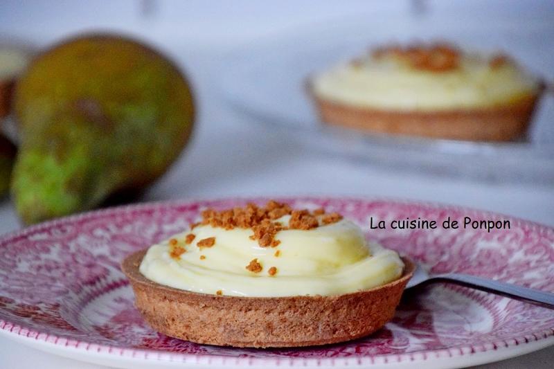tartelette crème patissière et poires flambées (15)