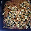 gratin de courgette au saumon et quinoa