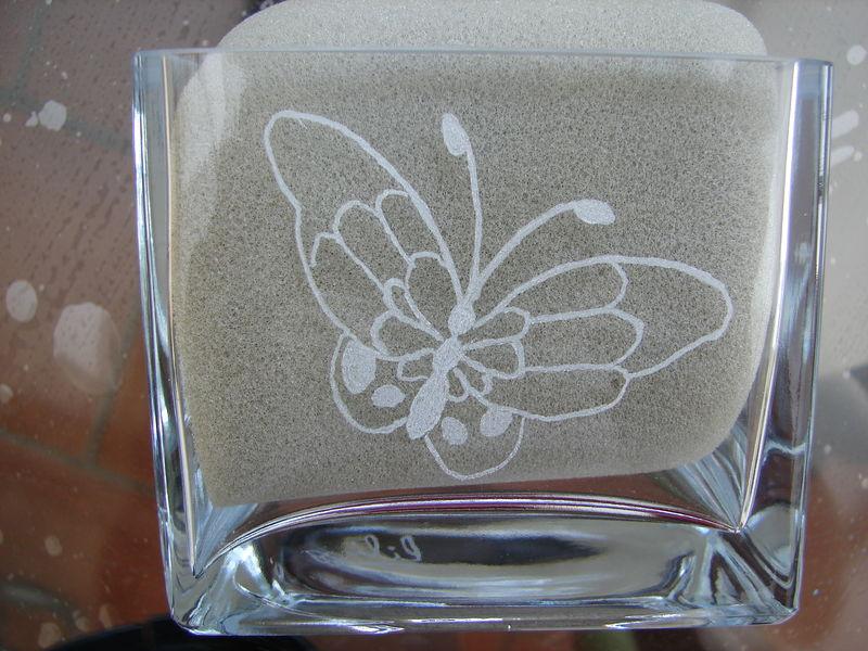 gravure sur verre les loisirs cr atifs de lili. Black Bedroom Furniture Sets. Home Design Ideas