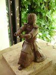 Kendo,sculpture,modelage,grès,statuette,statut,silhouette,arts martiaux,terre,argile,céramique,raku (28)