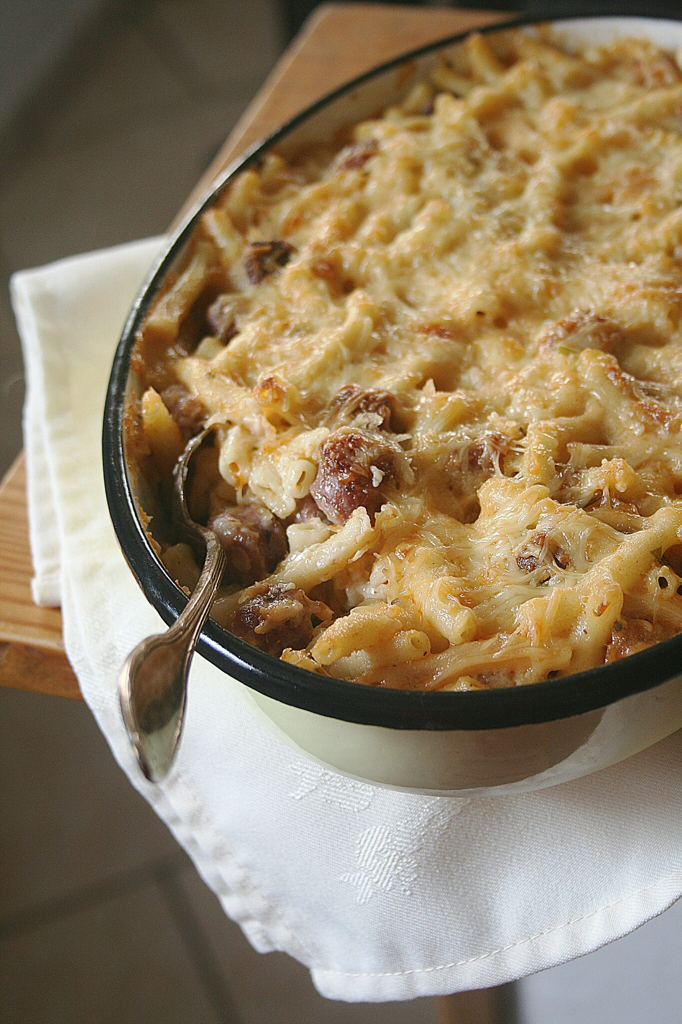 Mac'n'cheese aux merguez