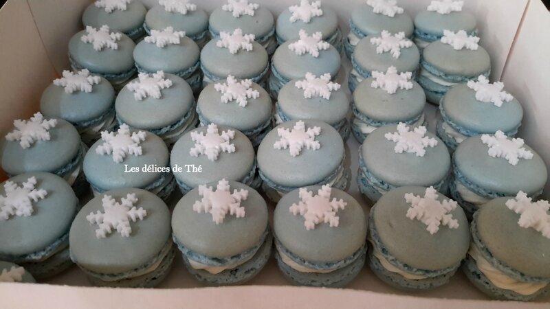 Macarons Reine des Neiges