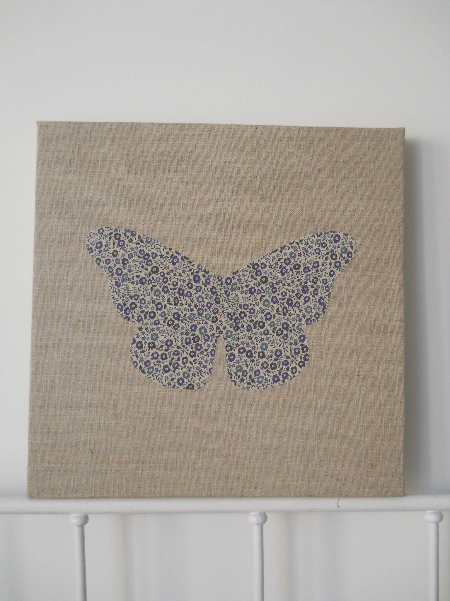 Cadre lin et papillon Liberty Fairford