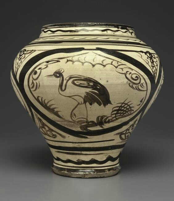 A painted Cizhou jar, Yuan dynasty, 14th century