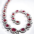 Mid-19th century ruby and diamond necklace