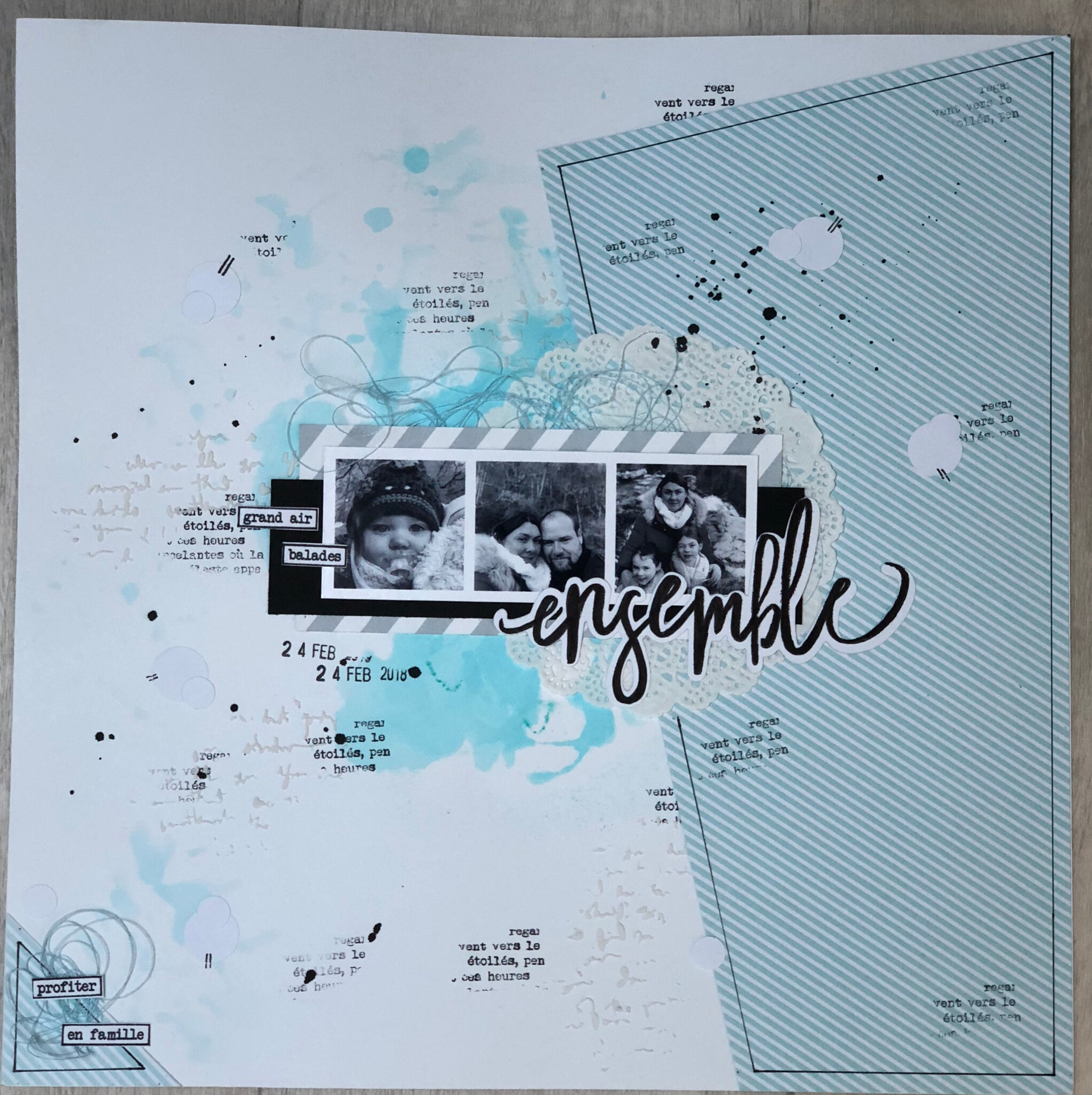 Ensemble page de scrapbooking